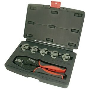 Astro Pneumatic Ratcheting Quick Change Terminal Crimper Set 9477
