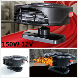 150w Portable 12v Heater Cool Fan Demister Defroster For Car Windscreen Window