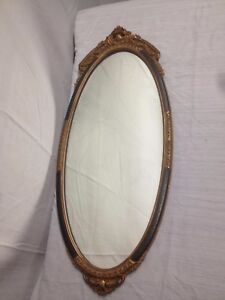 Antique Wonderful Ornate Oval Wall Mirror