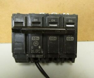 Ge 50 Amp 3 Pole Bolt on Circuit Breaker With Shunt Trip Catalog Thqb32050st1