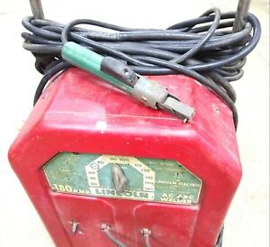 Lincoln Ac 180 s Arc Welder 180 Amp 180a Welding 220 Volts Old Heavy 220v 1ph