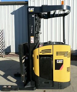 Caterpillar Model Nr3000 2007 3000 Lbs Capacity Great Reach Electric Forklift