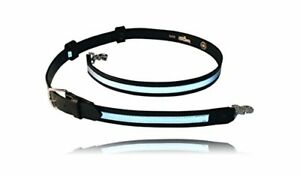 Boston Leather Reflective Firefighter s Radio Strap Belt