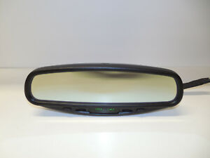 015603 Donnelly Rear View Mirror W Compass Temperature Auto Dimming Glass Oem
