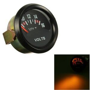 2 52mm Car Auto Mechanical Volt Voltmeter Voltage Meter Gauge Black Face 12v