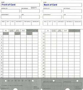 300 Time Cards For Upunch Hn4000 Autoalign Calculating Time Clock Fits All Time