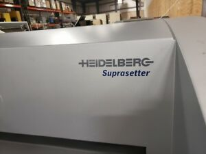 2008 Heidelberg Suprasetter 74 Ctp Rip Thermal Plate Washer