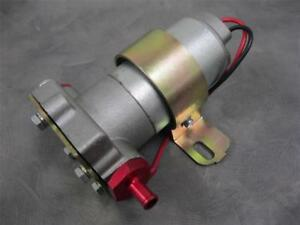 High Flow Performance 115 Gph Electric Fuel Pump Universal Fit 3 8 Red Fittings