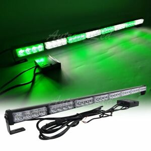 34 32w Green White Led Traffic Adviser Directional Arrow Stick Strobe Light Bar