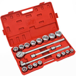 21 Pc 3 4 Drive Socket Wrench Set Metric Mm Tools Truck Repair Hd Sockets Auto
