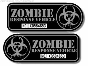 Zombie Response Vehicle Sticker Decal 4 Left Right Facing Fender
