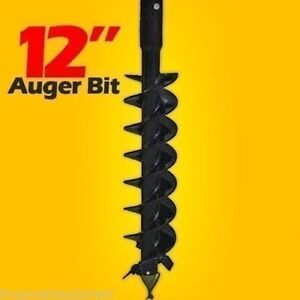 12 Auger Bit For Post Hole Auger Fits All 2 5 Round Drive Augers Made In Usa