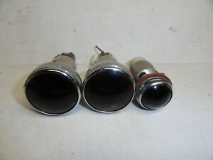 Vintage Panel Lamp Dash Gauge Indicator Lights Lot Of 3 S1