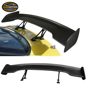 For Nissan Universal 57 Inches Gt Type Adjustable Trunk Spoiler Wing Black Abs