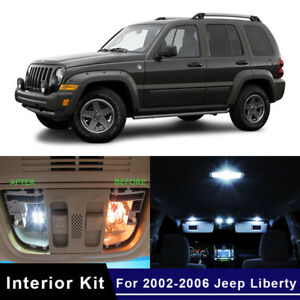 11x White Canbus Led Light Interior Kit For 2002 2006 Jeep Liberty Us Stock
