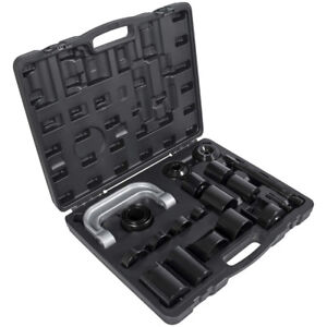 21x Master Ball Joint Adapter Set Kit Press Removal Installer Service Tool 2 4wd