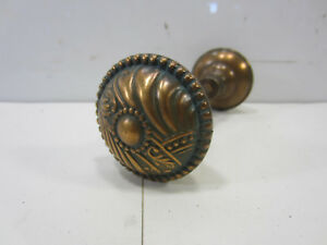 Antique Nouveau Brass Door Knobs