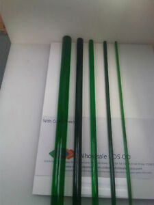 Green Perspex Tinted Acrylic Pmma Round Rod Solid Bar Translucent Colour 500mm