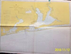 Nautical Map Of Pensacola Bay And Approaches 1968