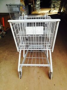 Shopping Carts Gray Metal Lot 8 Large Size Grocery Supermarket Liquor Warehouse