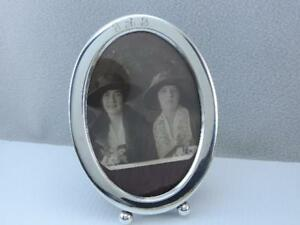 Antique Art Deco Newport Sterling Silver Photo Picture Frame Excellent