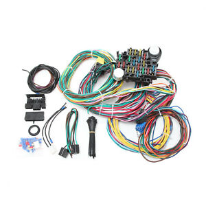 New 17 Fuses Wiring Harness Chevy Mopar Ford Street Hot Rat Rod Wires