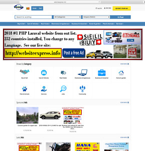 1 Php Laraval Classified Website 100 ready To Host 252 Countries many Language