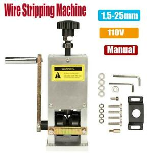 Manual Wire Stripping Machine Copper Cable Peeling Stripper W Drill Connector