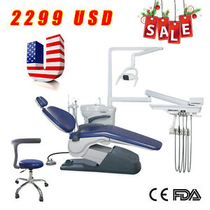 Usa Stock Dental Chair Unit Computer Controlled 110v Doctor Mobile Stool Fda Ce