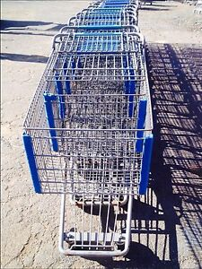 Used Shopping Carts Gray Metal Lot 16 Grocery Discount Store Fixtures Mid Size