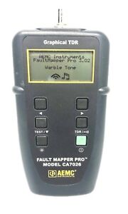 Aemc Fault Mapper Pro Model Ca7026 Graphical Tdr Used