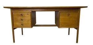 Amazing Danish Teak Executive Desk Mid Century Modern