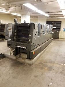 1986 Heidelberg Gto F 52 5 Alcolor Dampening Cpc 1 02 Straight Press