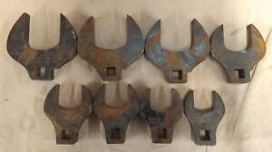 vintage Snap on Crows Foot Set 8pc 1 2 Drive Sae