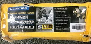 New Acorn International Efw1414 1 2 mile 14 gauge Galvanized Fence Wire Freeship