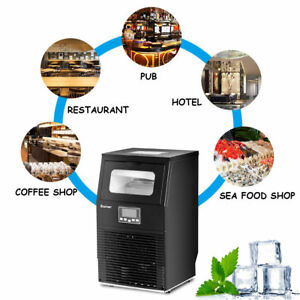Heavy Duty Portable Black Commercial Ice Cube Maker Machine Bar Restaurant Hotel