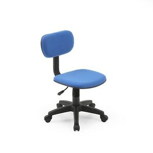Hodedah Office Task Chair Blue Adjustable Height Maneuverable Stability Comfort