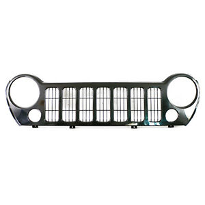 Front Grille Fits 2005 2007 Jeep Liberty 104 01921c V