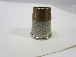 Vintage Made In England Brass Top Thimble Size 15
