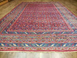 Ca1940s Vg Dy Antique Afshari Herati Bijar Bijdar 7x10 Estate Sale Rug