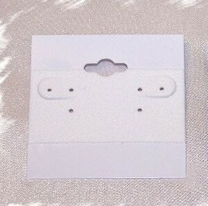 Wholesale Lot Of White 2 X 2 Earring Hanging Display Cards 2000 Pcs Case Box