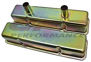 1958 86 Chevy Small Block Circle Track Racing Steel Valve Covers Zinc