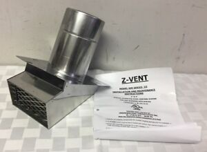 Z flex Z vent 4 Termination Hood Stainless Steel Venting