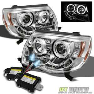For 8000k Slim Xenon Hid 05 11 Toyota Tacoma Led Drl Halo Projector Headlights