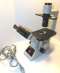 Olympus Ck2 Inverted Trinocular Microscope With 4x 10x 20x Objectives Ck 2