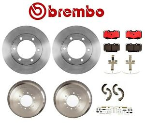 15 Wheels Brembo Rotors Drums Pads Shoes Brake Kit For Toyota 4runner 96 08 00