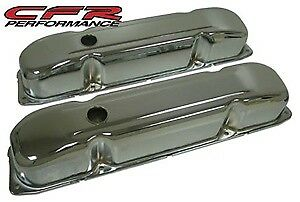 Chrome Steel Valve Covers Fit 1958 88 Mopar Big Block Wedge 383 426 440 Engines