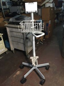 Spacelabs Medical Patient Monitor Rolling Stand With Basket stand Only