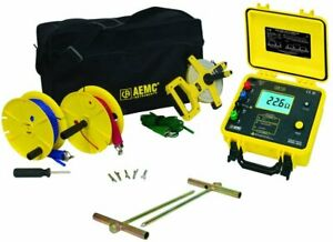 Aemc 2135 22 Ground Resistance Tester Model 4630 Kit