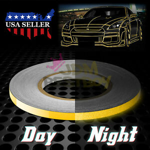 Yellow Reflective Tape Safety Self Adhesive Striping Sticker 150ft Roll 1cm